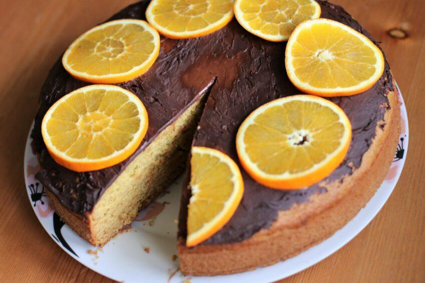 Wegańskie ciasto pomarańczowe