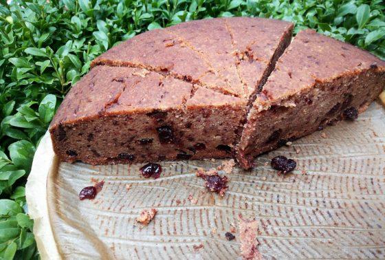 Bezglutenowe ciasto z żurawiną i czekoladą